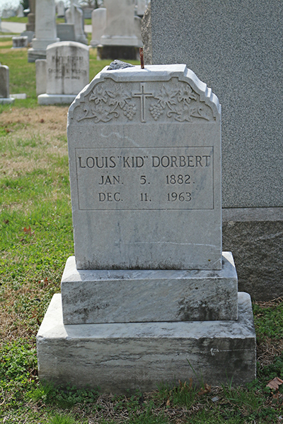 Louis Kid Dorbert is buried in Most Holy Redeemer Cemetery in northeast Baltimore, close to the location of the cemetery office.