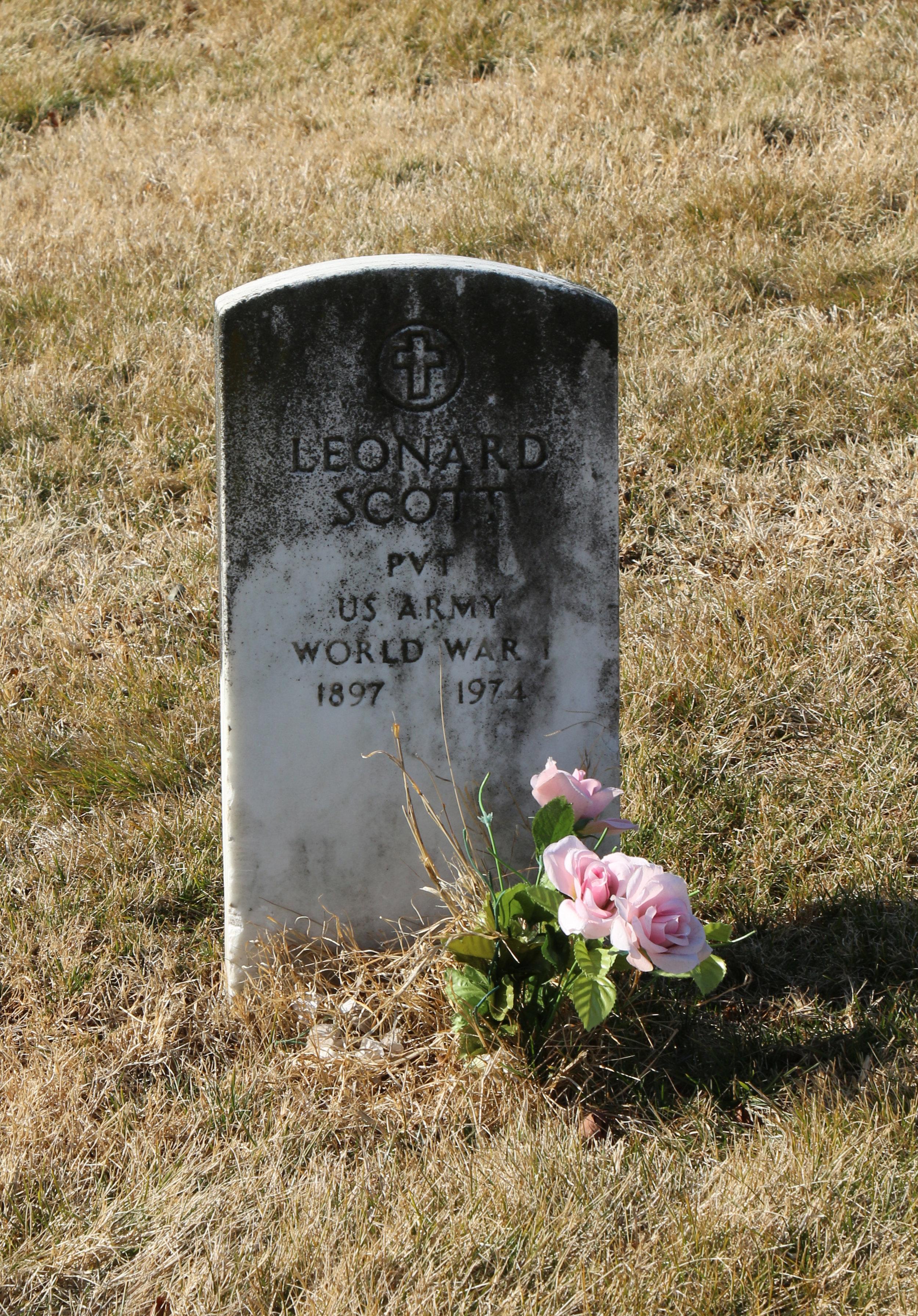 Pvt. Leonard Scott US Army world war i 1897 – 1974