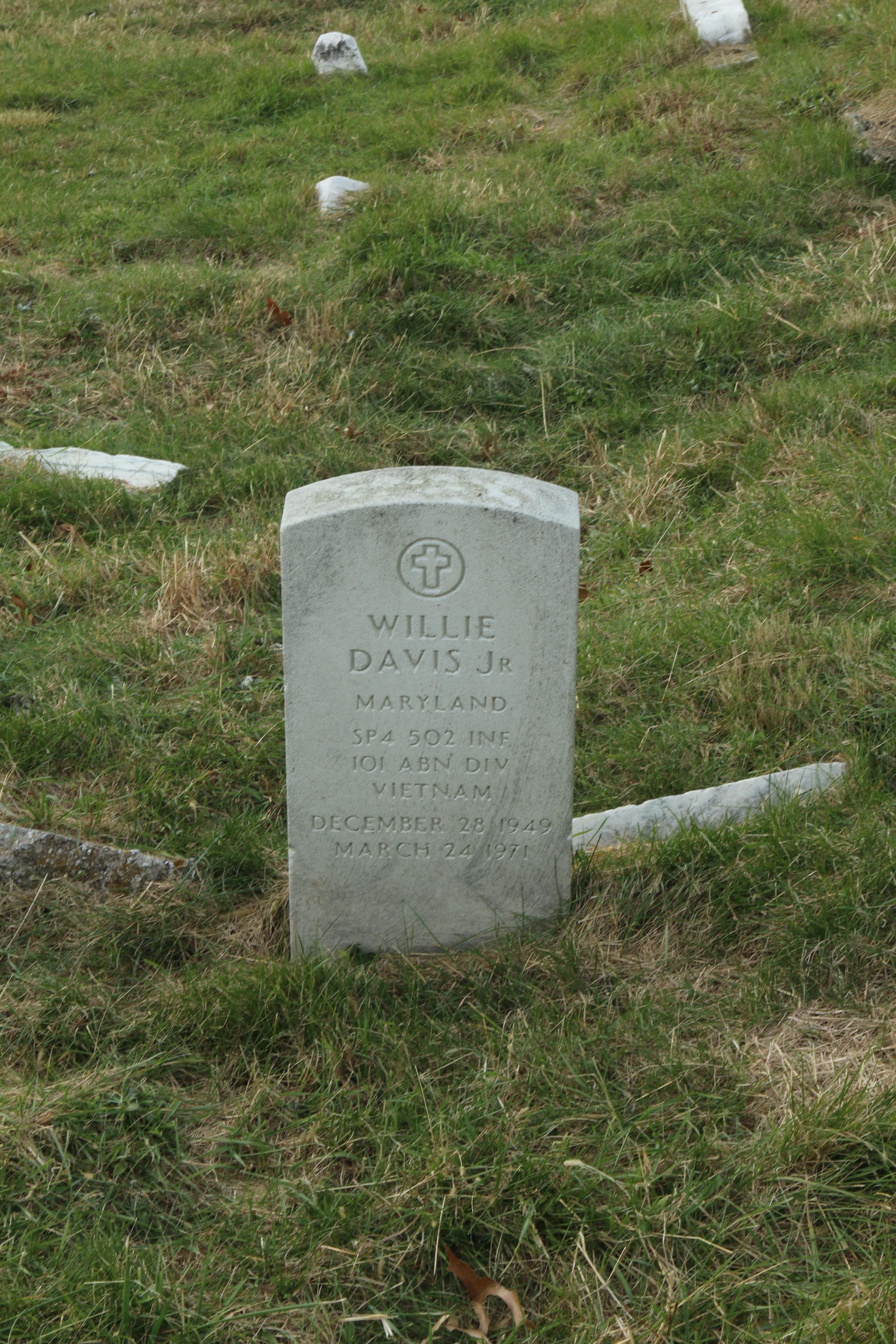 Sp4 Willie Davis Jr.