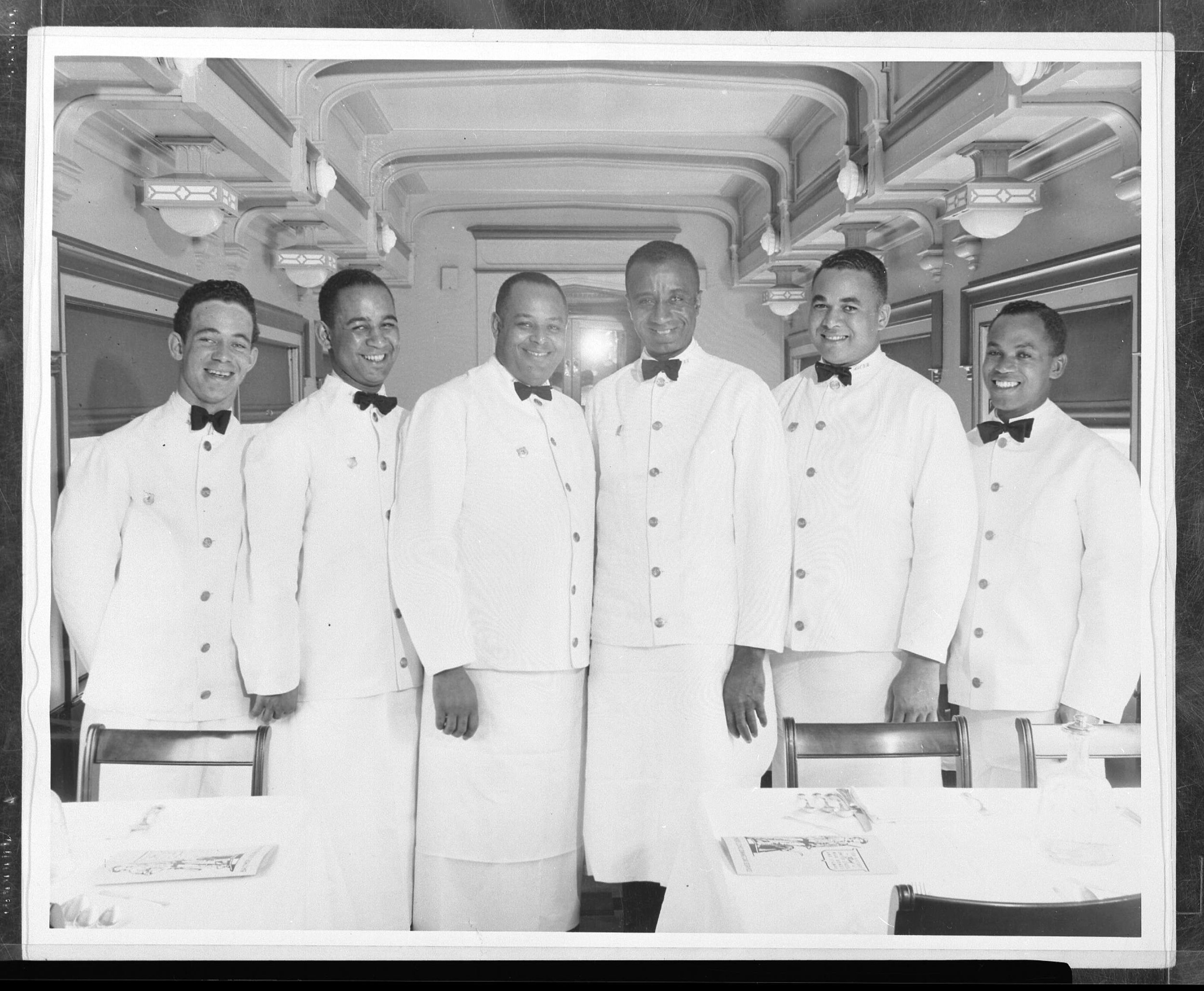 L to R: Joseph S. Hines, Adolphus Lewis, Jr., Wesley T. Parker, Louis E. Lowman, Alfred S. Cauthorne, Russell D. Wood. Photo used with permission. Courtesy of the  B&O Railroad Museum .