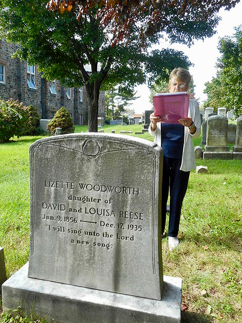 For a Waverly Garden - Mary Pat Clarke, who represents District 14 on the Baltimore City Council, read Lizette Woodward Reese poems during Baltimore's Doors Open 2018 celebration at St. John's in the Village. Photo: Joe StewartFor a Waverly GardenSend down, Great Gardener,To this dear plot,Your cherubim, your seraphim;Delay it not.From sleet, from rotting drought,Defend;The arrowed rain, the sunIn plenty send.At cool of evening then,Toil done, and glare, and din,Come down, Great Gardener,And walk therein.