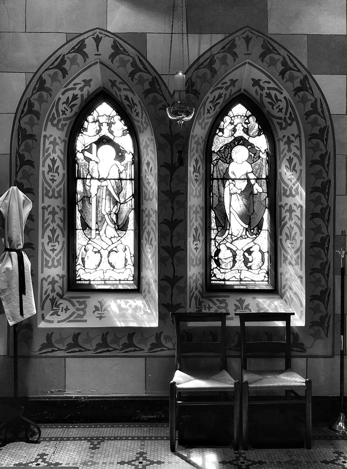 Inside St. John's Episcopal Church at 3009 Greenmount Avenue