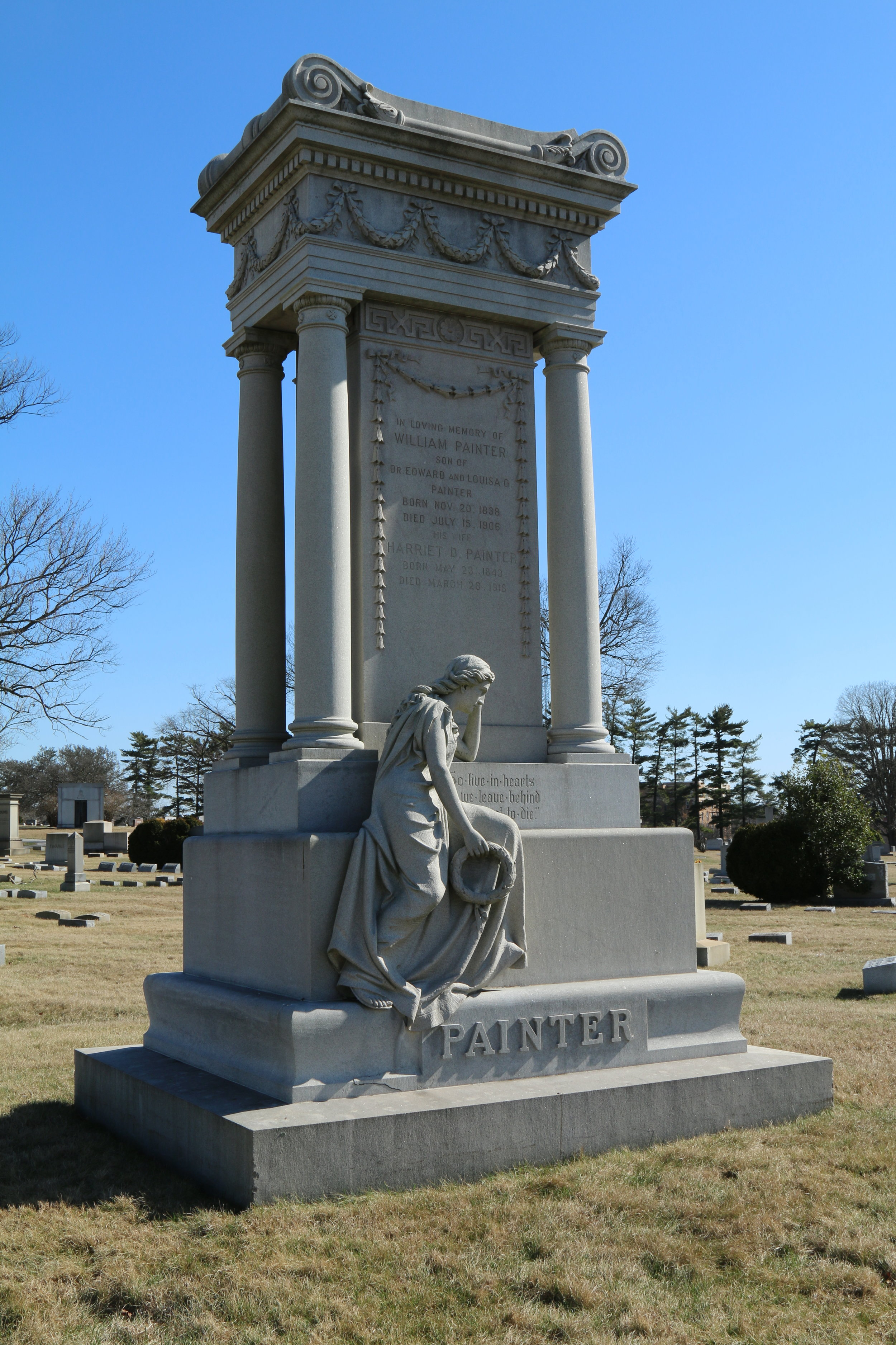 William Painter, who invented the bottle cap that made Baltimore's Crown Cork and Seal an international company, is buried in Druid Ridge Cemetery in Pikesville. Photo by Kathi Santora