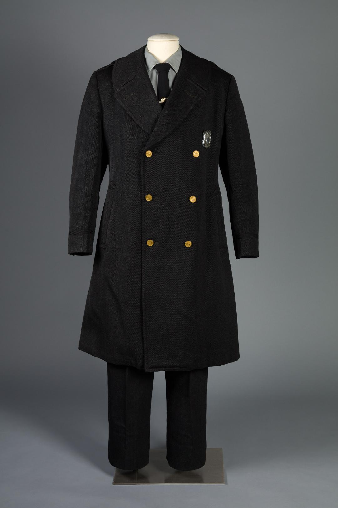 john Heavner's B & O Railroad police uniform. Photo courtesy of Maryland Historical Society