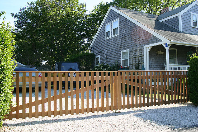 Double wooden fence