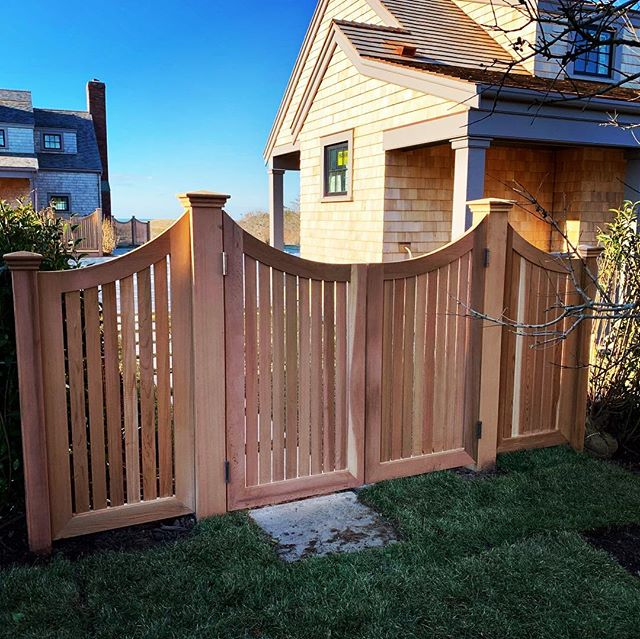 #Red Cedar Gates and Wings #NANTUCKETFENCING