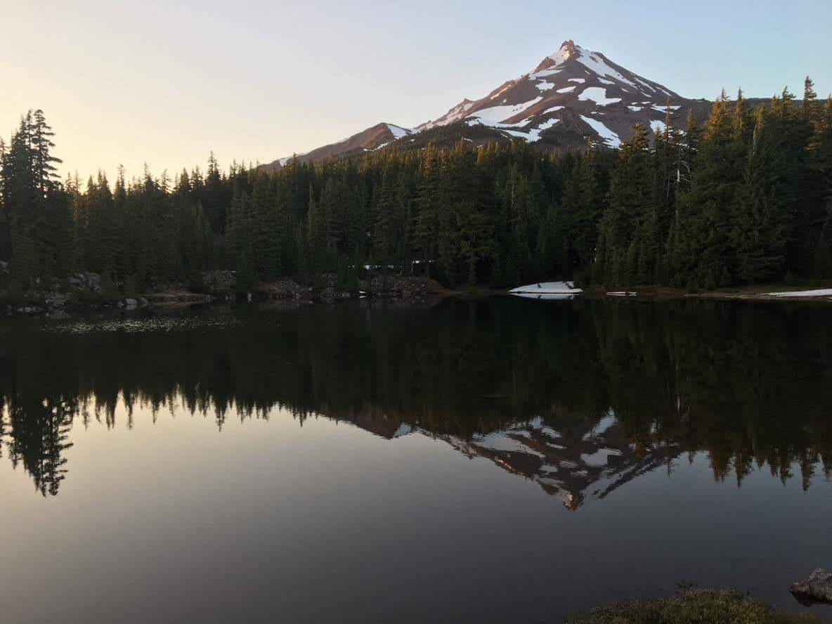 Shale Lake and Mt. Jefferson