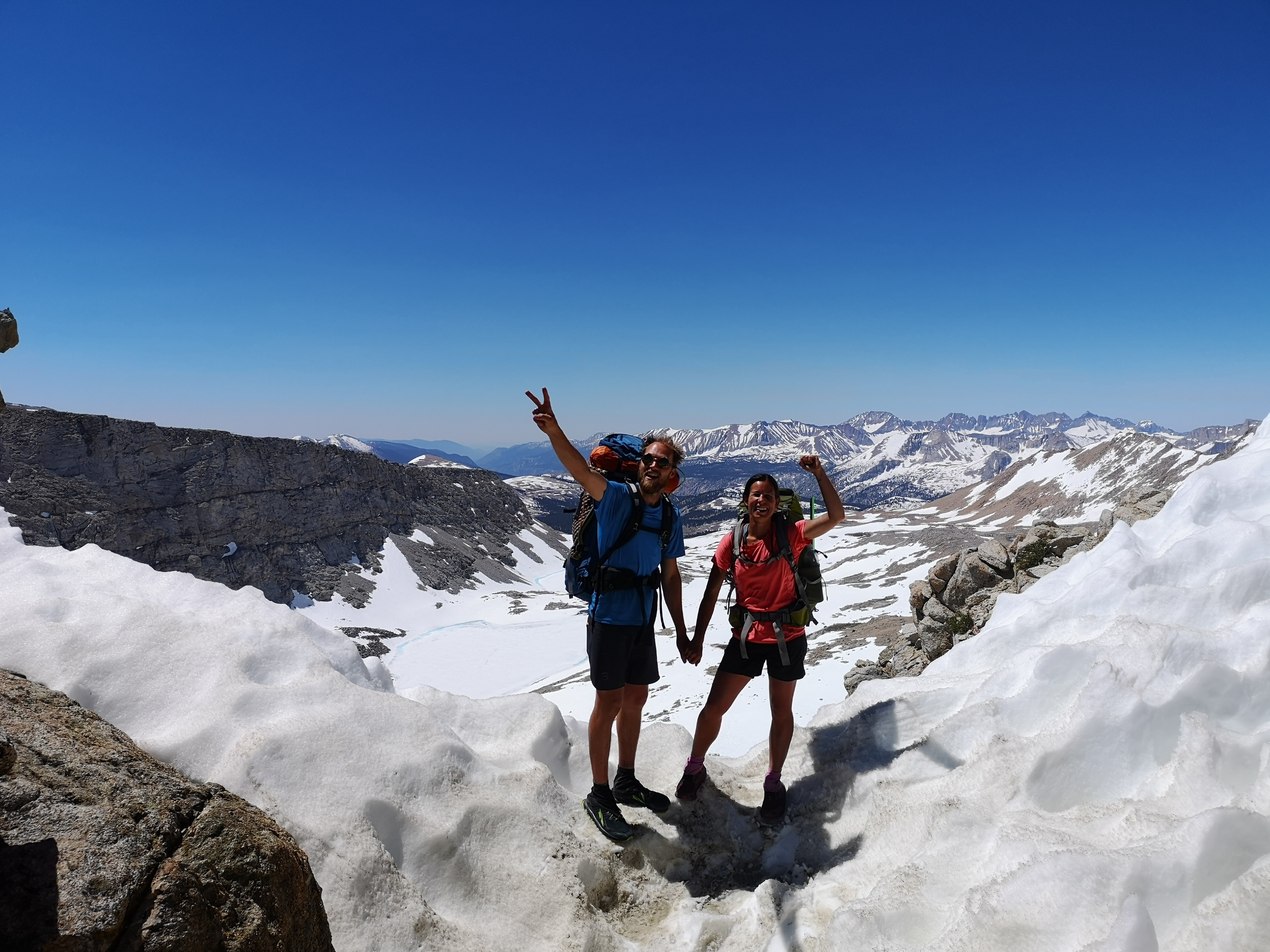 On top of Mather pass
