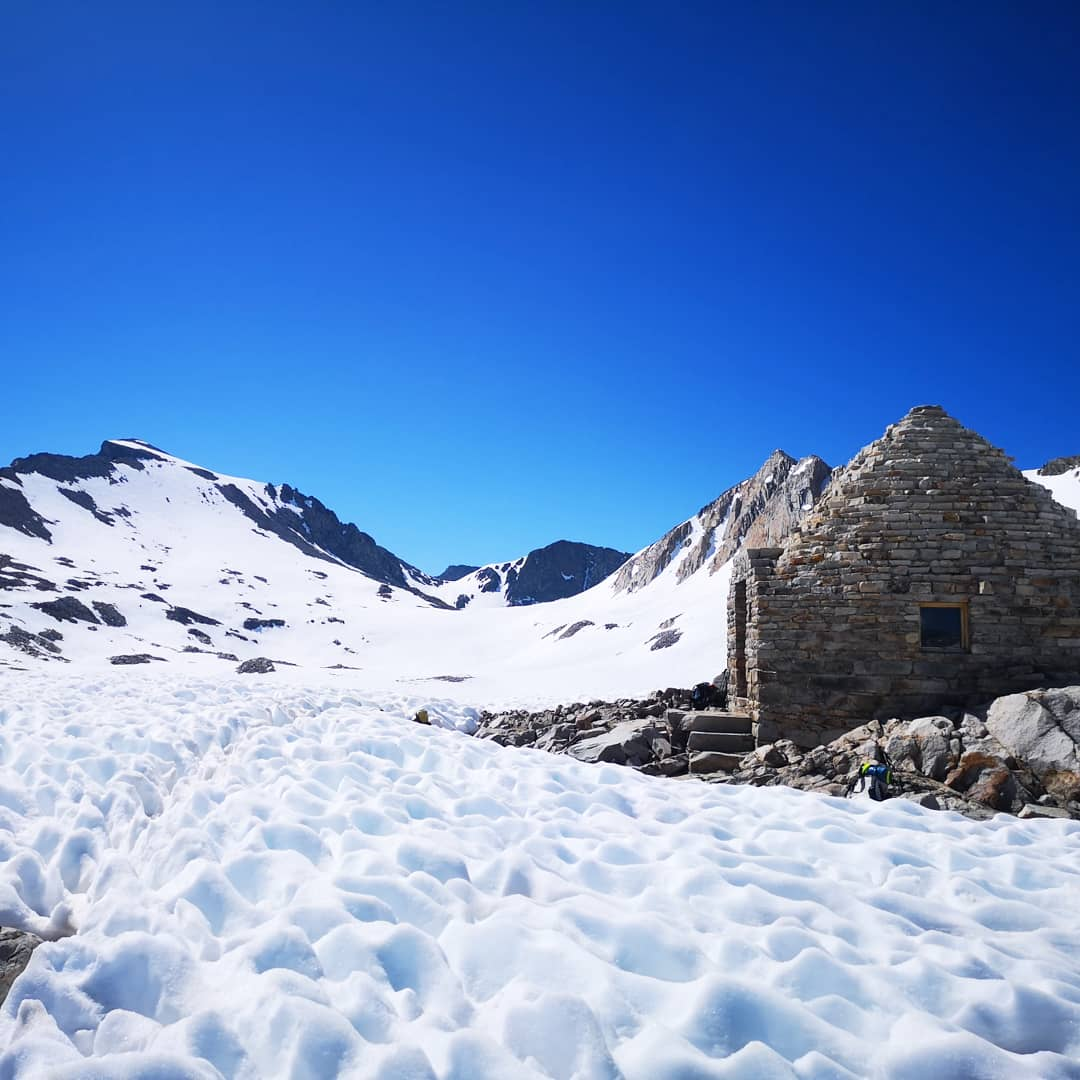 The epiq Muir stone hut on Muir pass