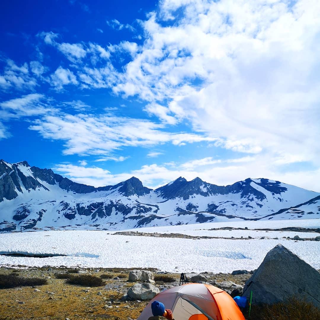 Our highest camp spot below Mather pass