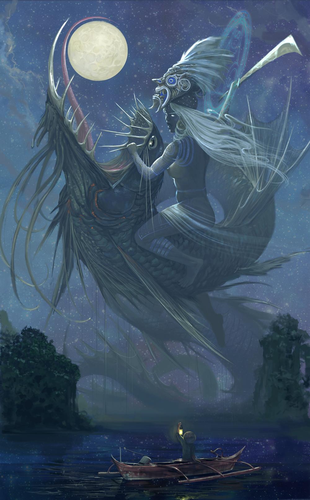 Haliya vs Bakunawa  by Godfrey Escota