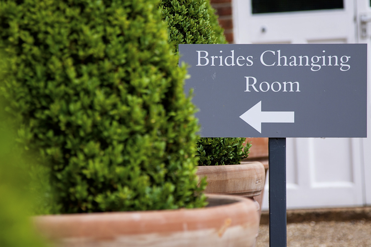 Entrance to bride's preparation room at an Essex wedding