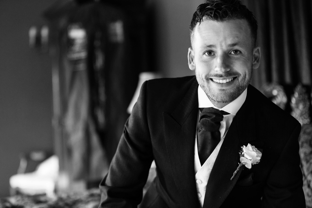 Groom portrait at Quendon Hall
