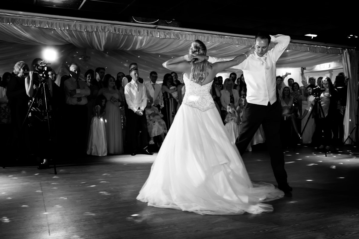 Bride and groom choreographed first dance at the Fennes, Essex