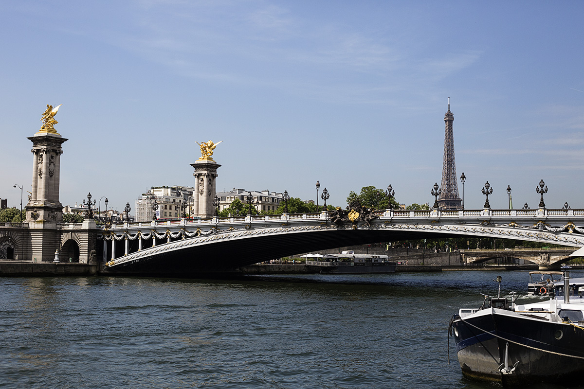 Pont Alexandre with Eiffel Tower in background
