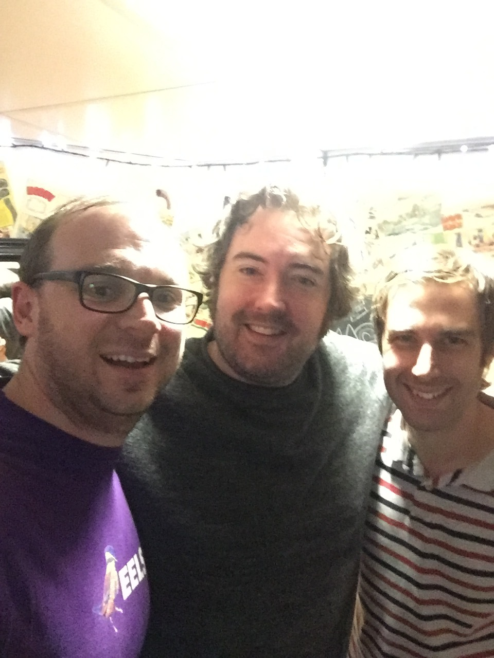 The wonderfully pleasant Nick Helm. We clearly left our lighting rig at home for this photo.
