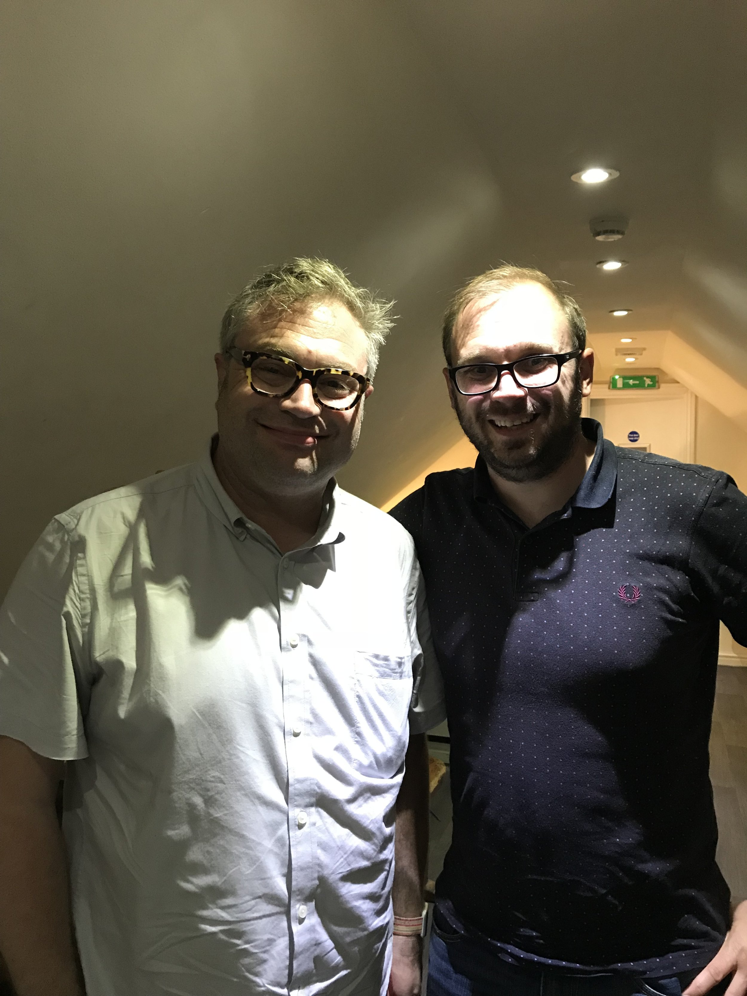 A very happy Ben with Steven Page - Barenaked Ladies co-founder
