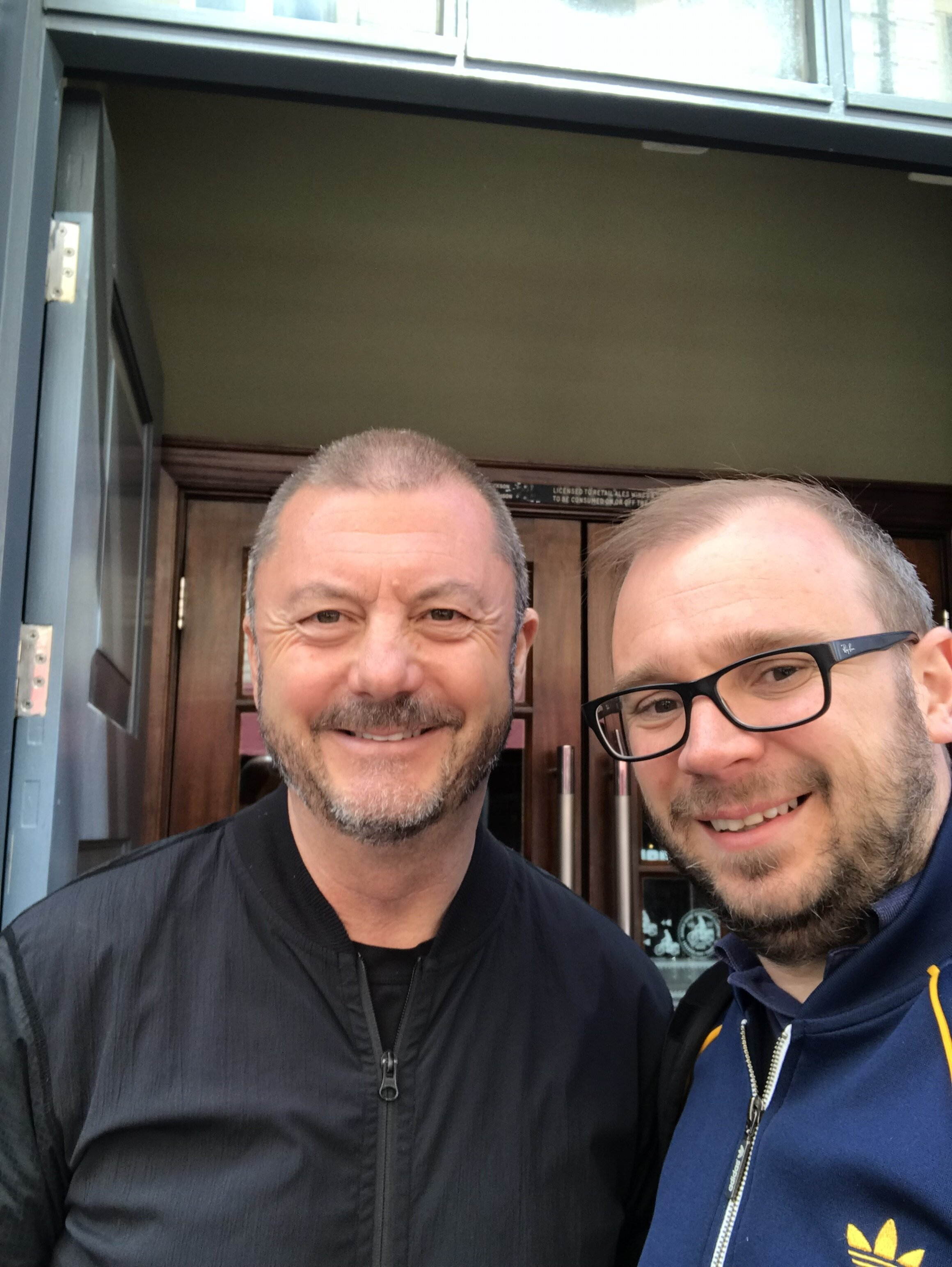 Ben with Keith at the Bacchus in Newcastle