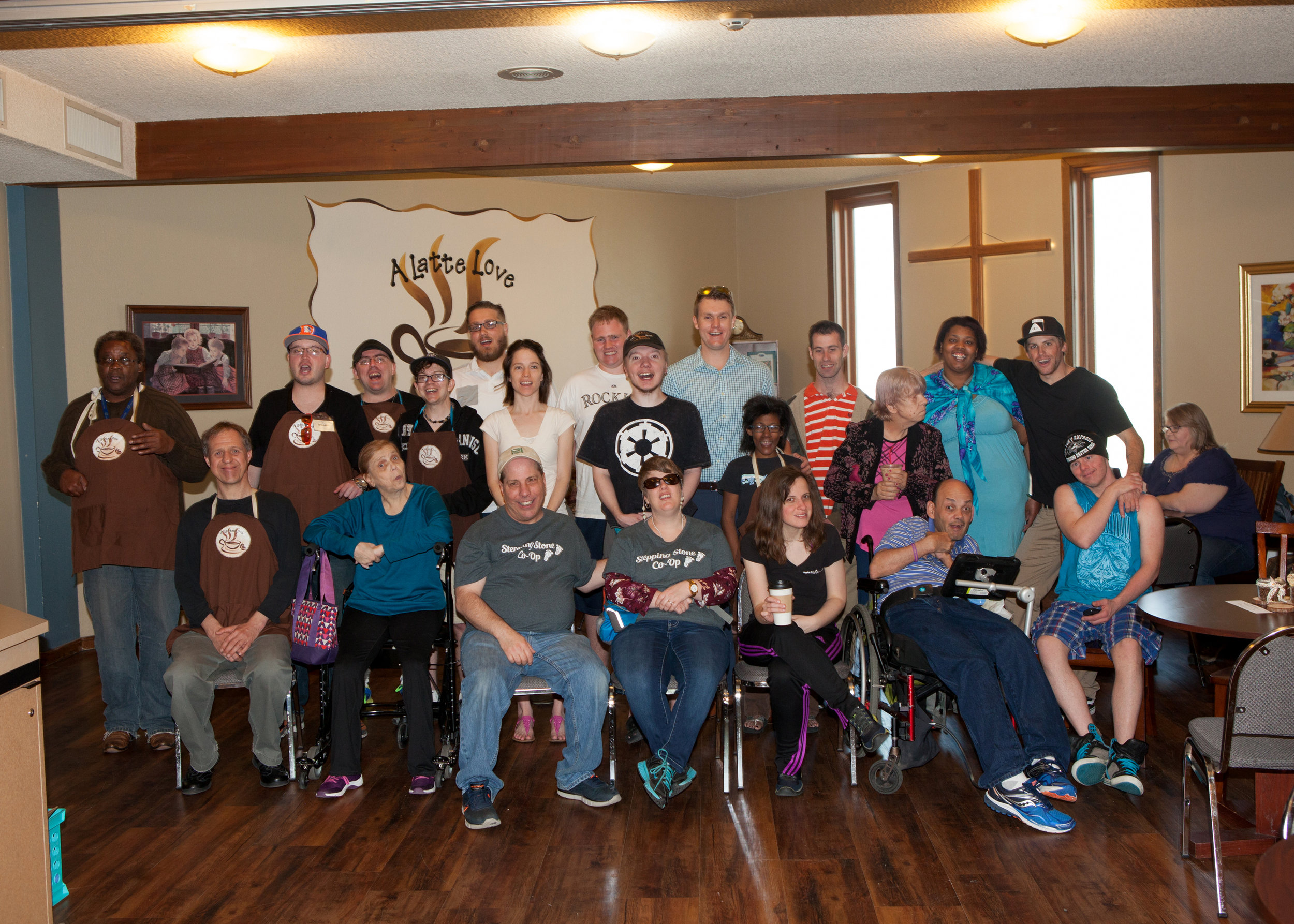 Colin with Stepping Stone Program Participants