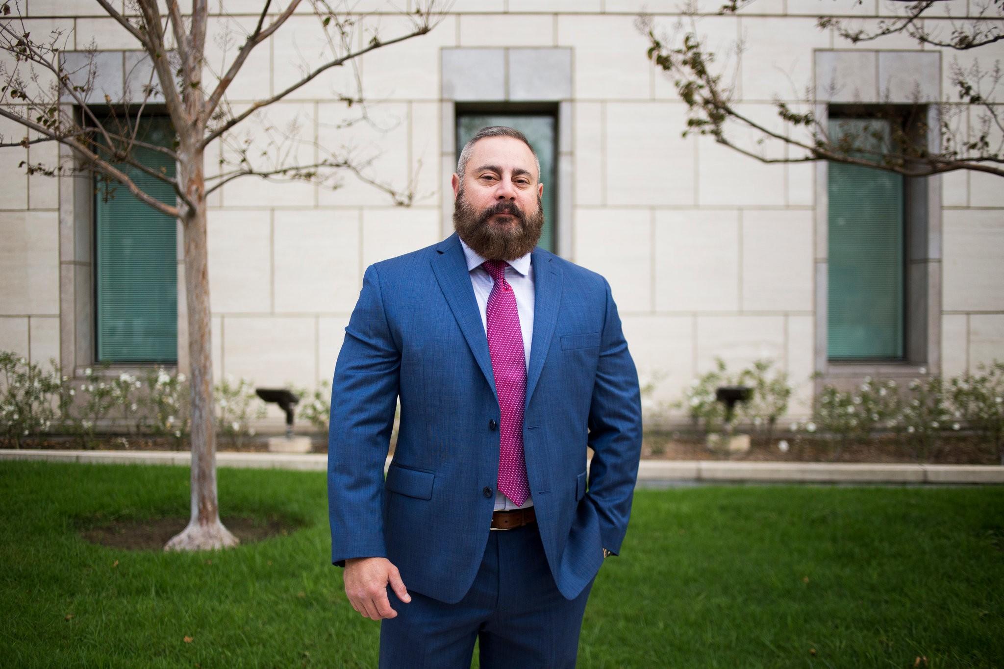 David Santillan, the Mongols' national president.  Jenna Schoenefeld for The New York Times