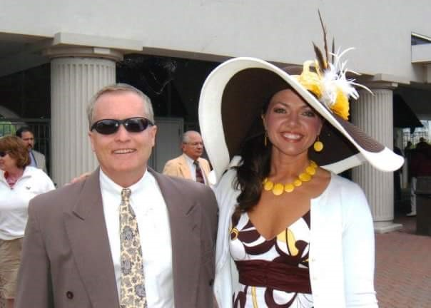 Caroline and her husband, Bob at the 2009 Kentucky Derby