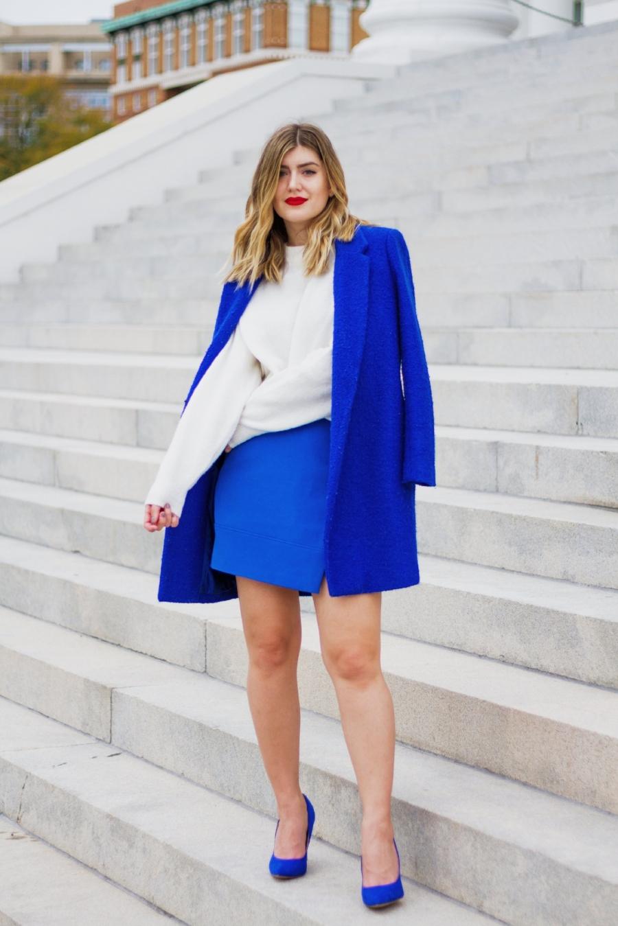 Full Look Links:  Coat:   similar 1   ,    similar 2   ,    similar 3    Sweater:    here    Skirt:    similar   ,    similar 2    Shoes:    here
