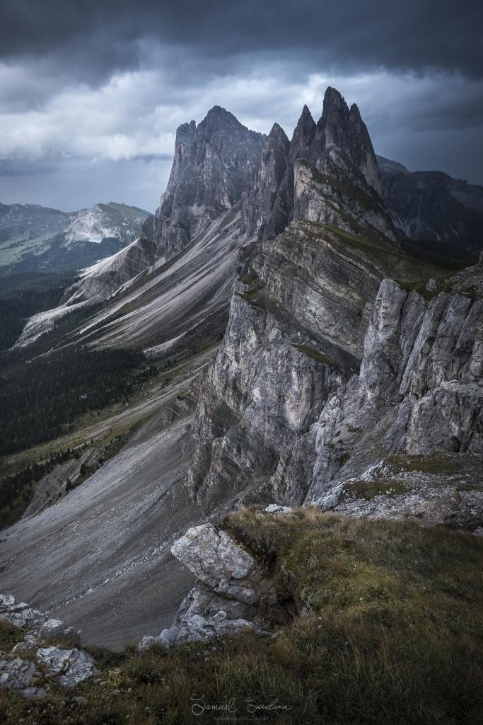 Secceda's epic ridge line at sunset.