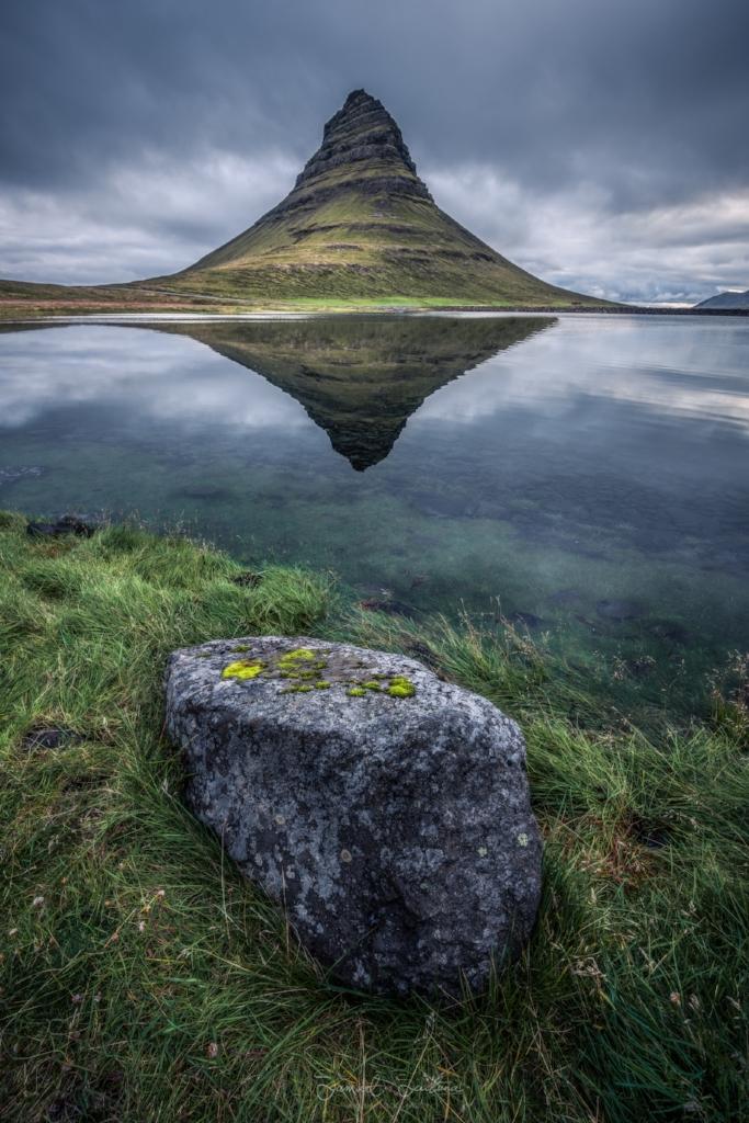 Reflections in a little lake near Kirkufell before sunrise!