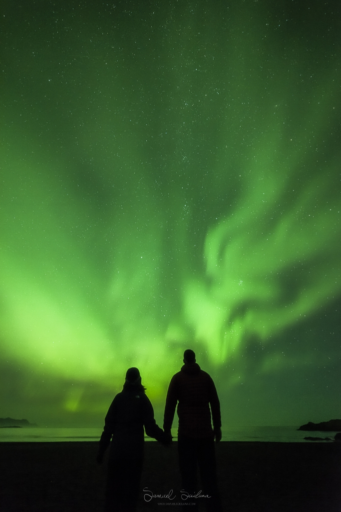 A Selfie with a great display of Northern Lights in the background!