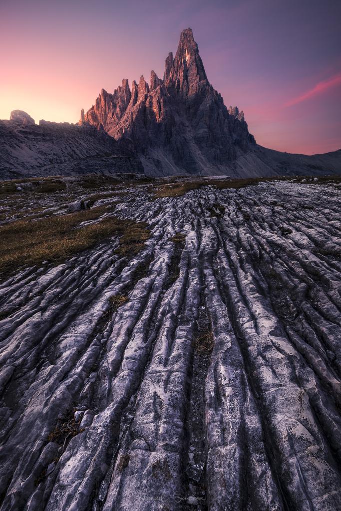Monte Paterno at Sunrise.