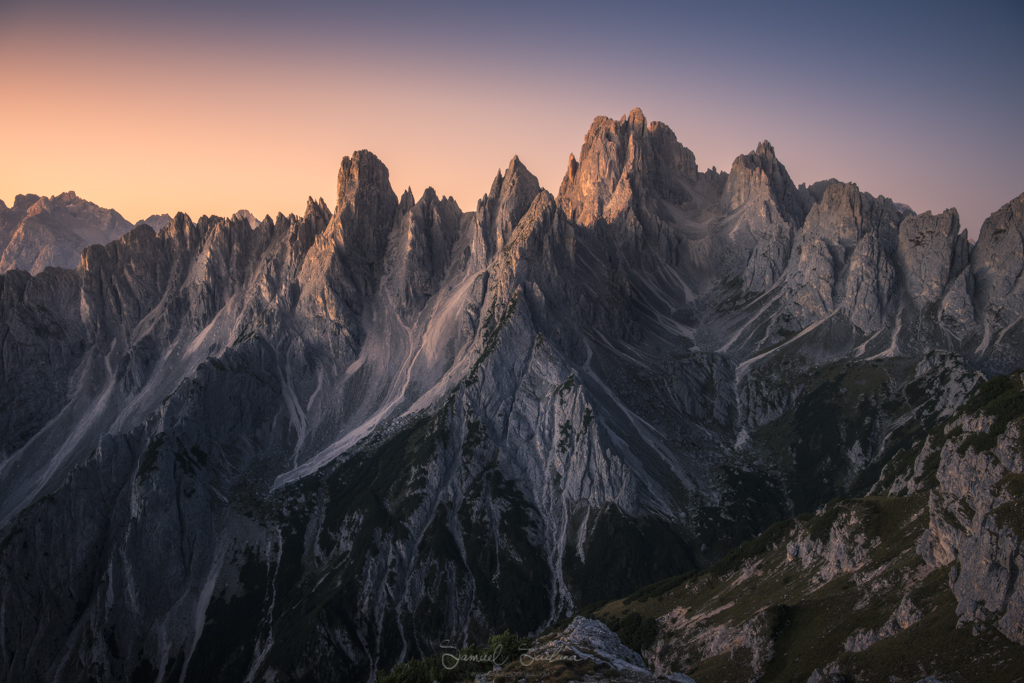 Sunrise at the Cadini di Misurina.