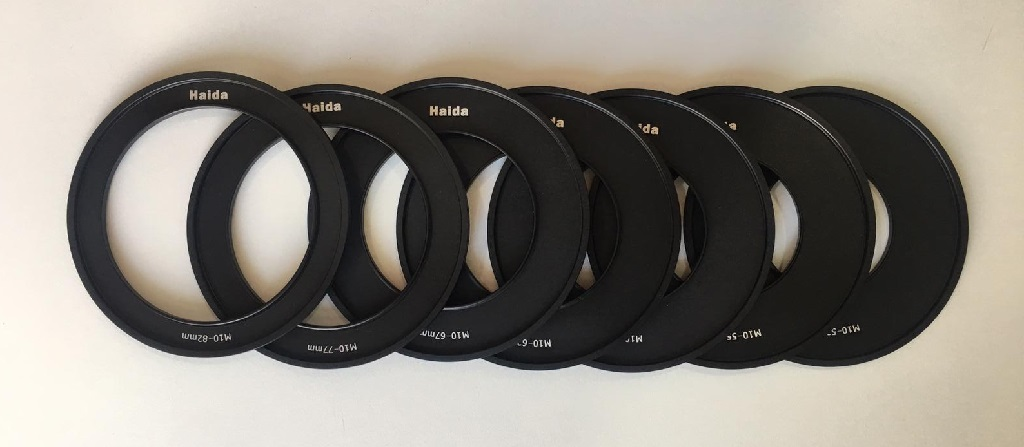 Adapter Rings to fit most lenses.