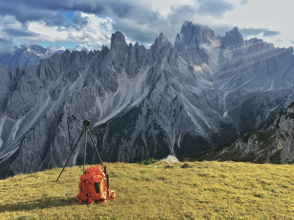 The Gitzo GT3543XLS whilst shooting a time-lapse in the Dolomites.