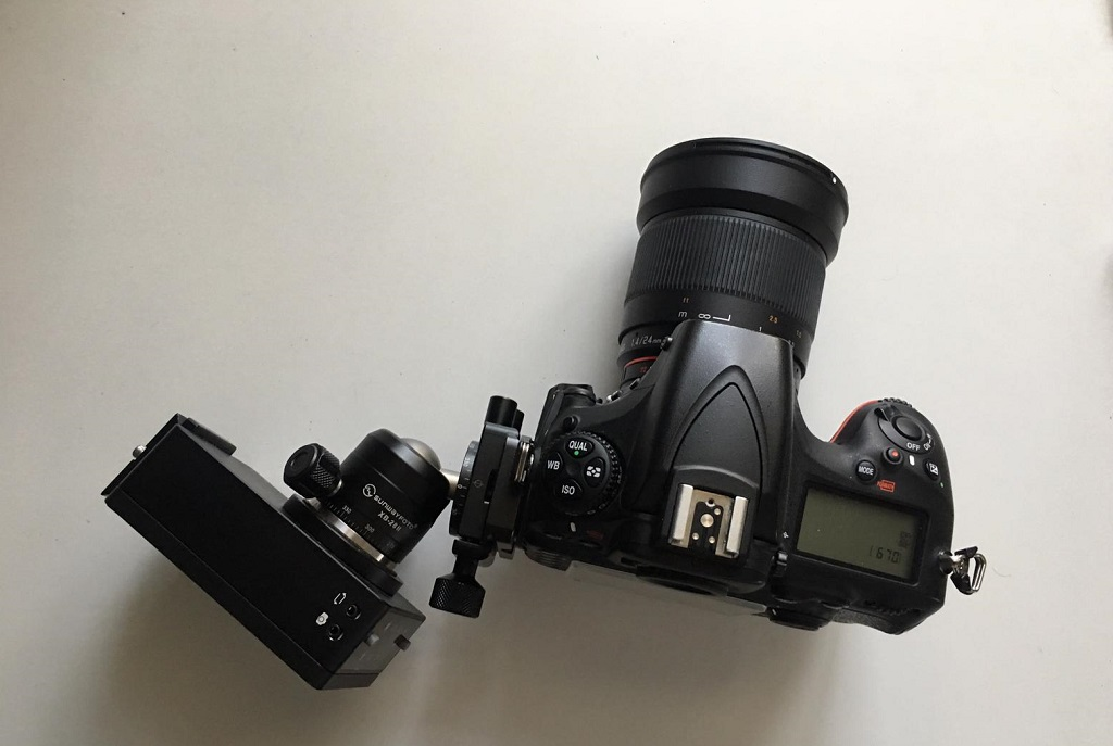 The Sifo rotator compared to my Nikon D810, its tiny!