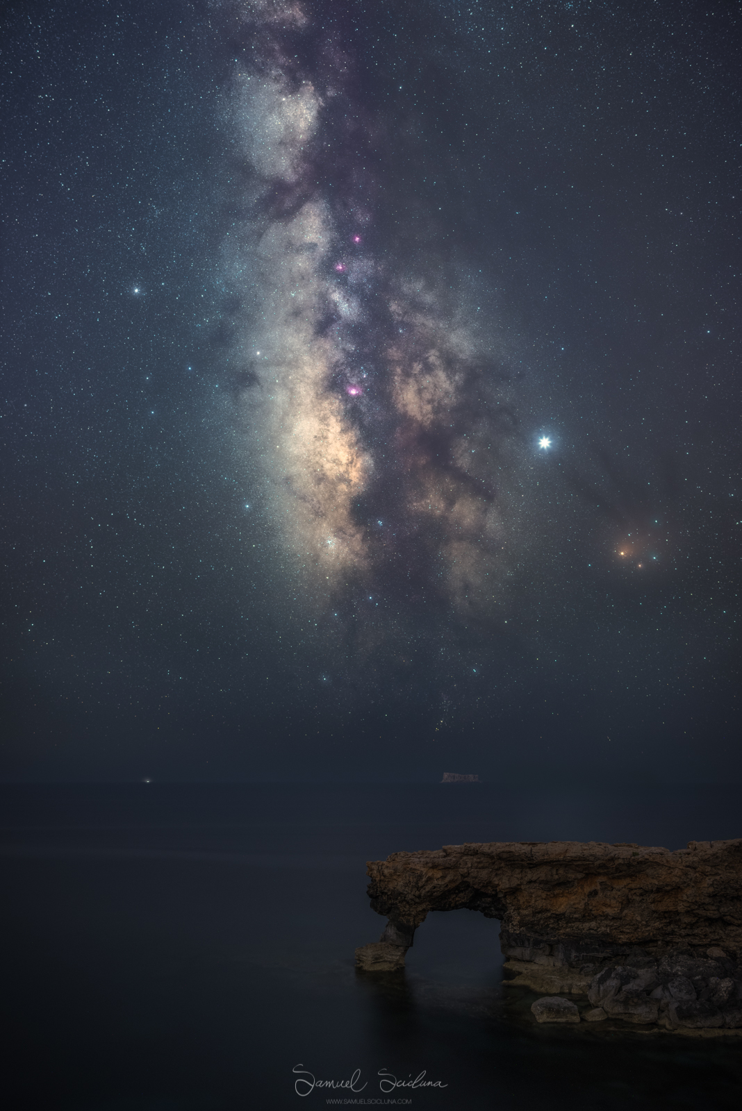 A Tracked image of the Milkyway over Ras il Mignuna in Qrendi, Malta.