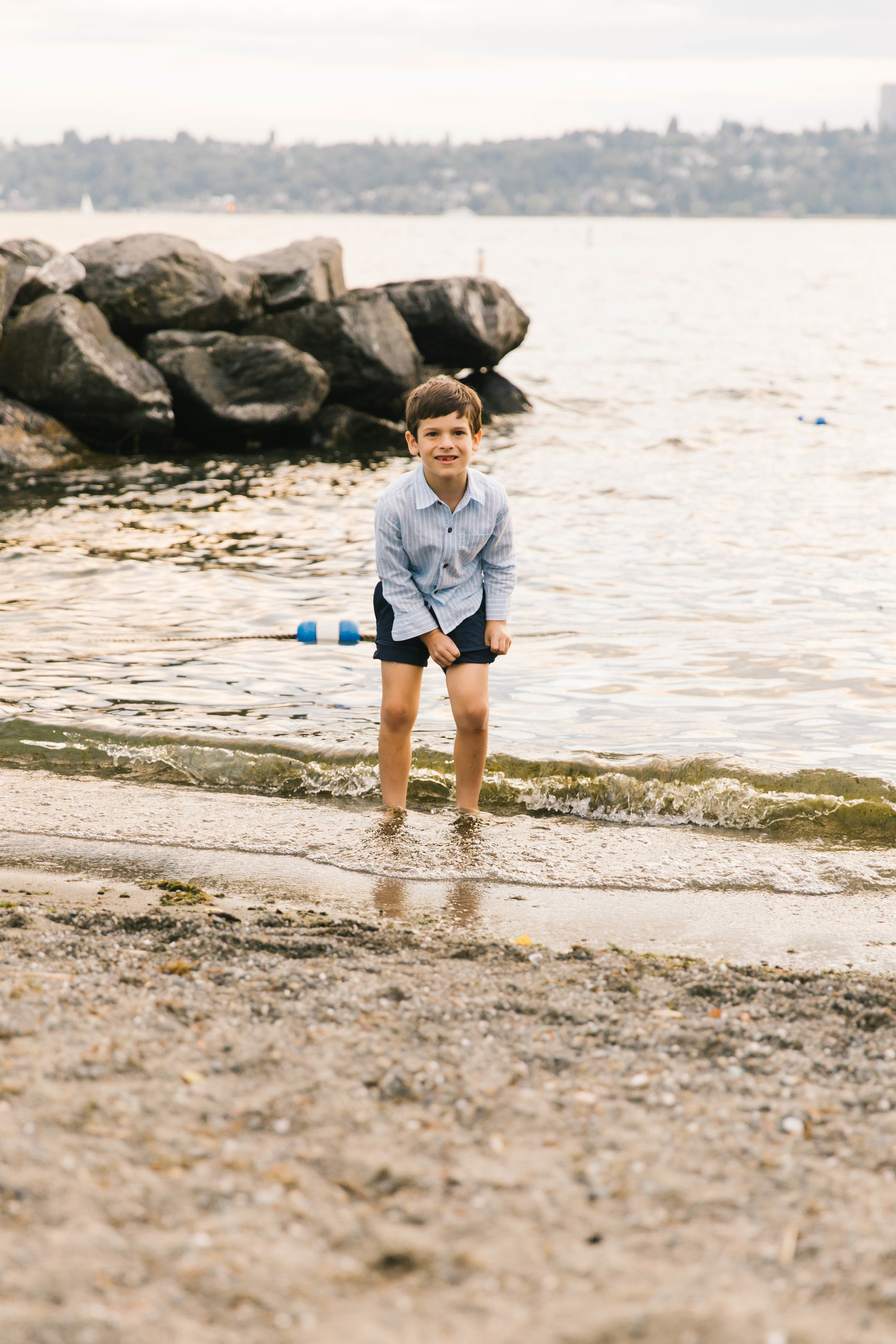 Seattle Family Photography Beach Session Golden Hour Natural Light, Mom and Boys, sunset on the water by Chelsea Macor Photography-30.jpg