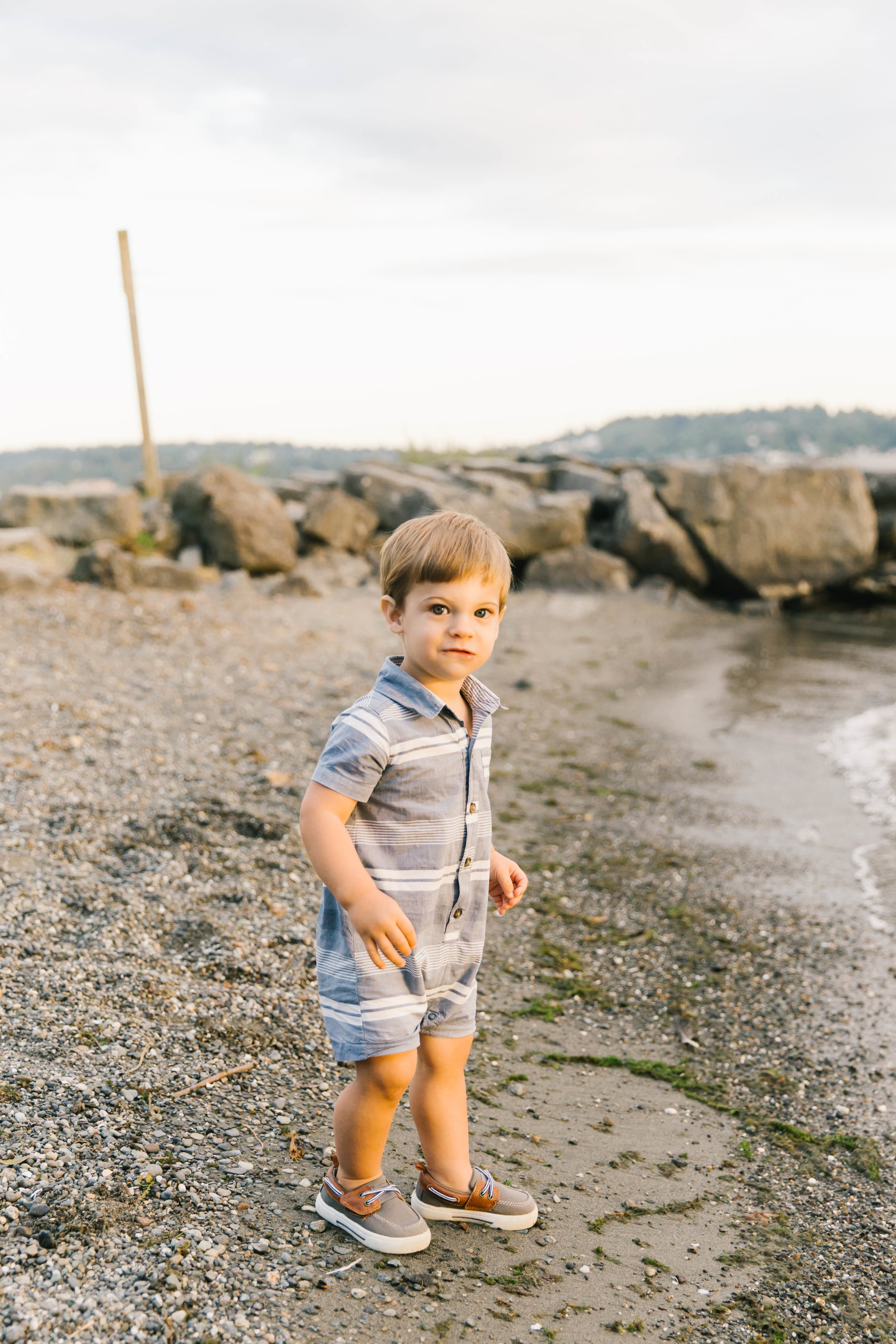 Seattle Family Photography Beach Session Golden Hour Natural Light, Mom and Boys, sunset on the water by Chelsea Macor Photography-9.jpg