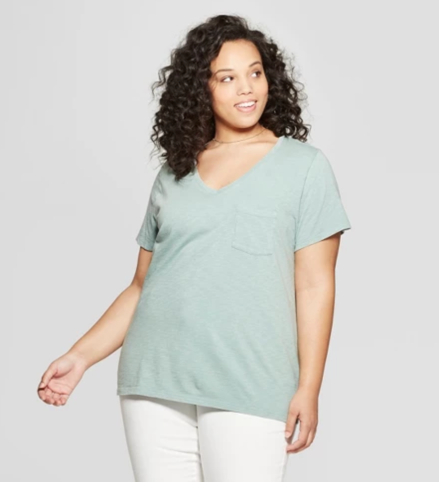 Monterey Pocket V Neck T