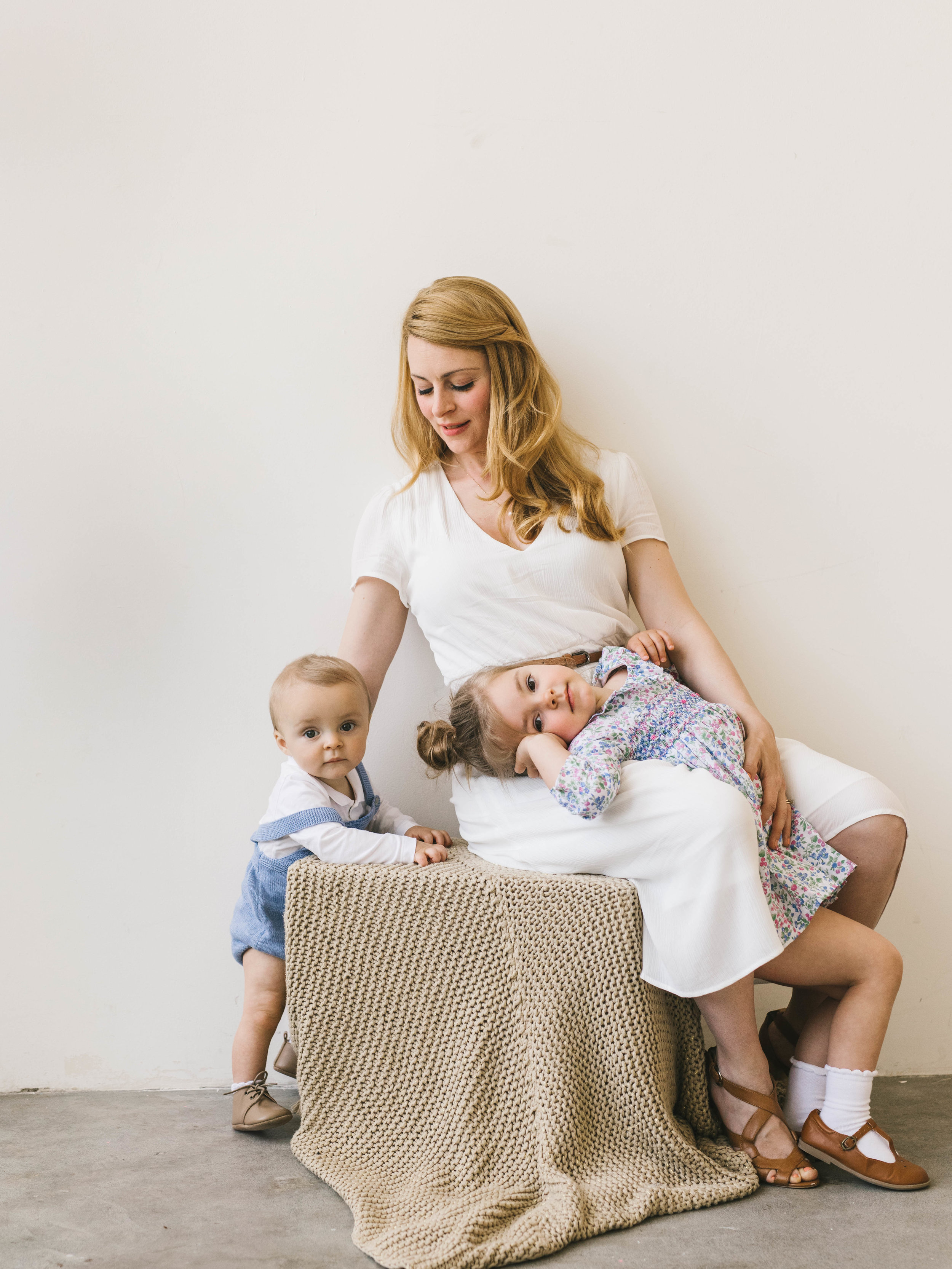 Powerful and bright motherhood photography session- a mother, daughter and son, in a daylight studio by Seattle photographer Chelsea Macor Photography-27.jpg