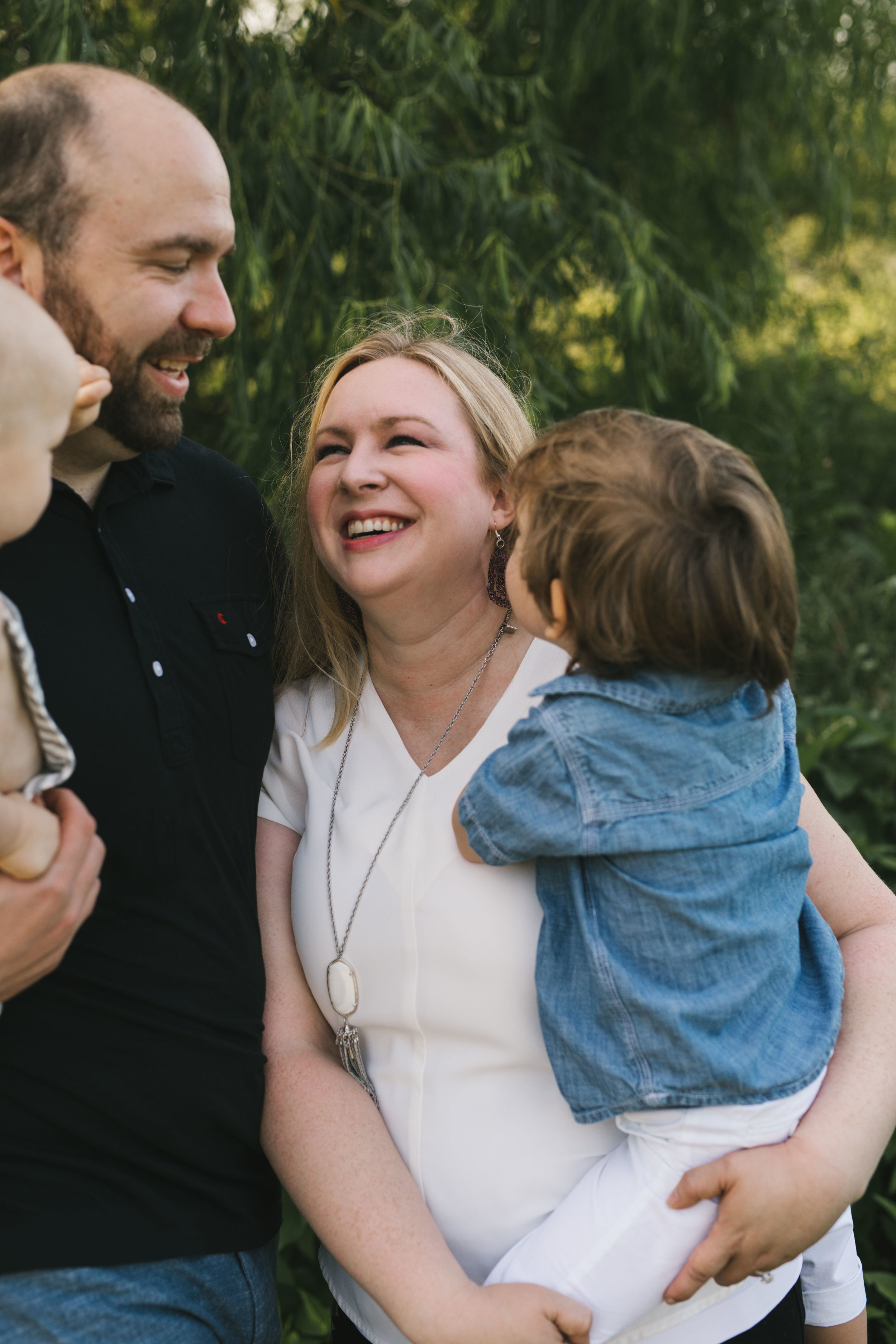 Dallas family session in-home and on a walk around the neighborhood with sweet family of four by Seattle family photographer Chelsea Macor Photography-14.jpg