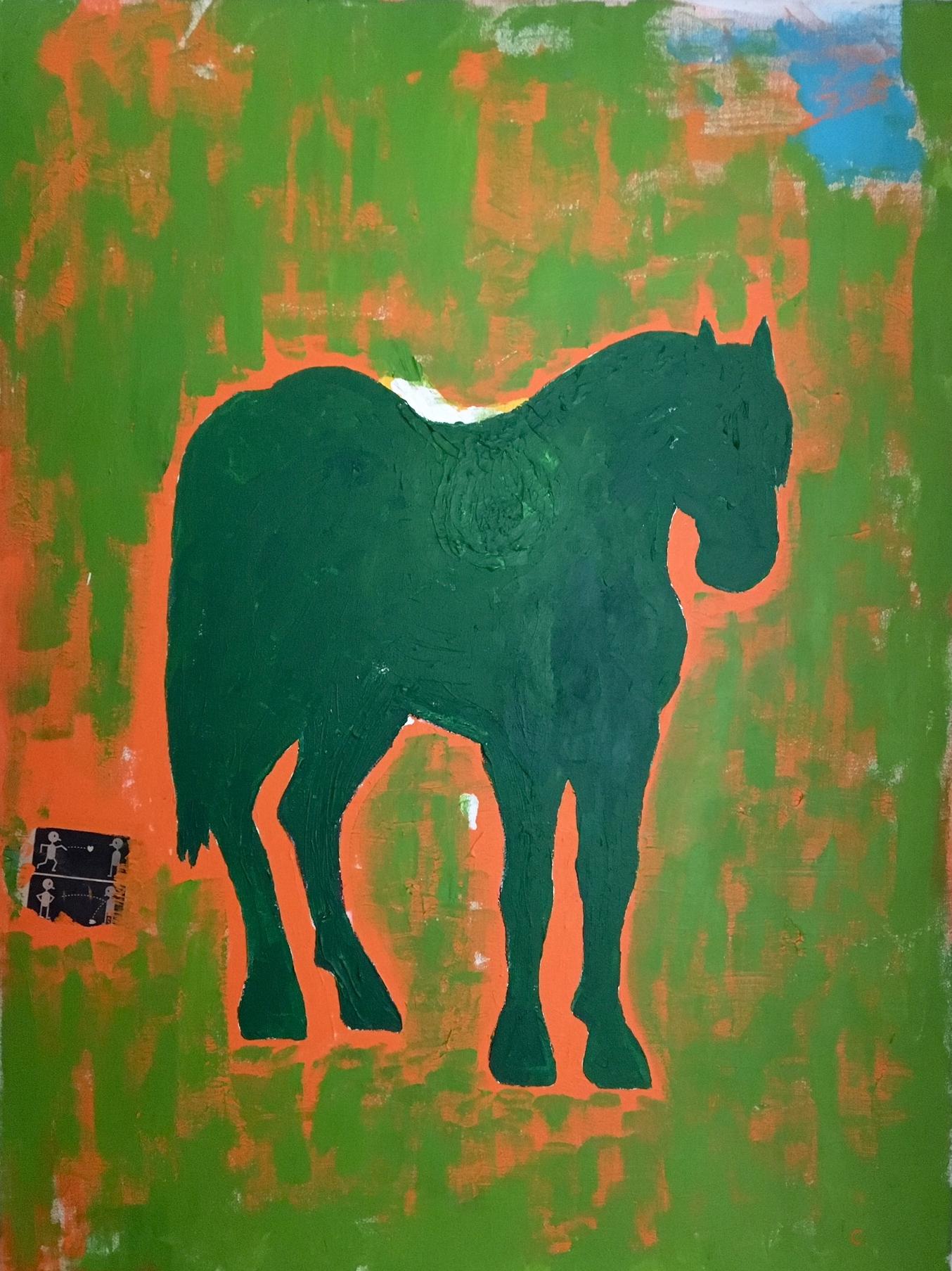 """Sam   Acrylic & Mixed Media on Canvas 30"""" x 40"""""""