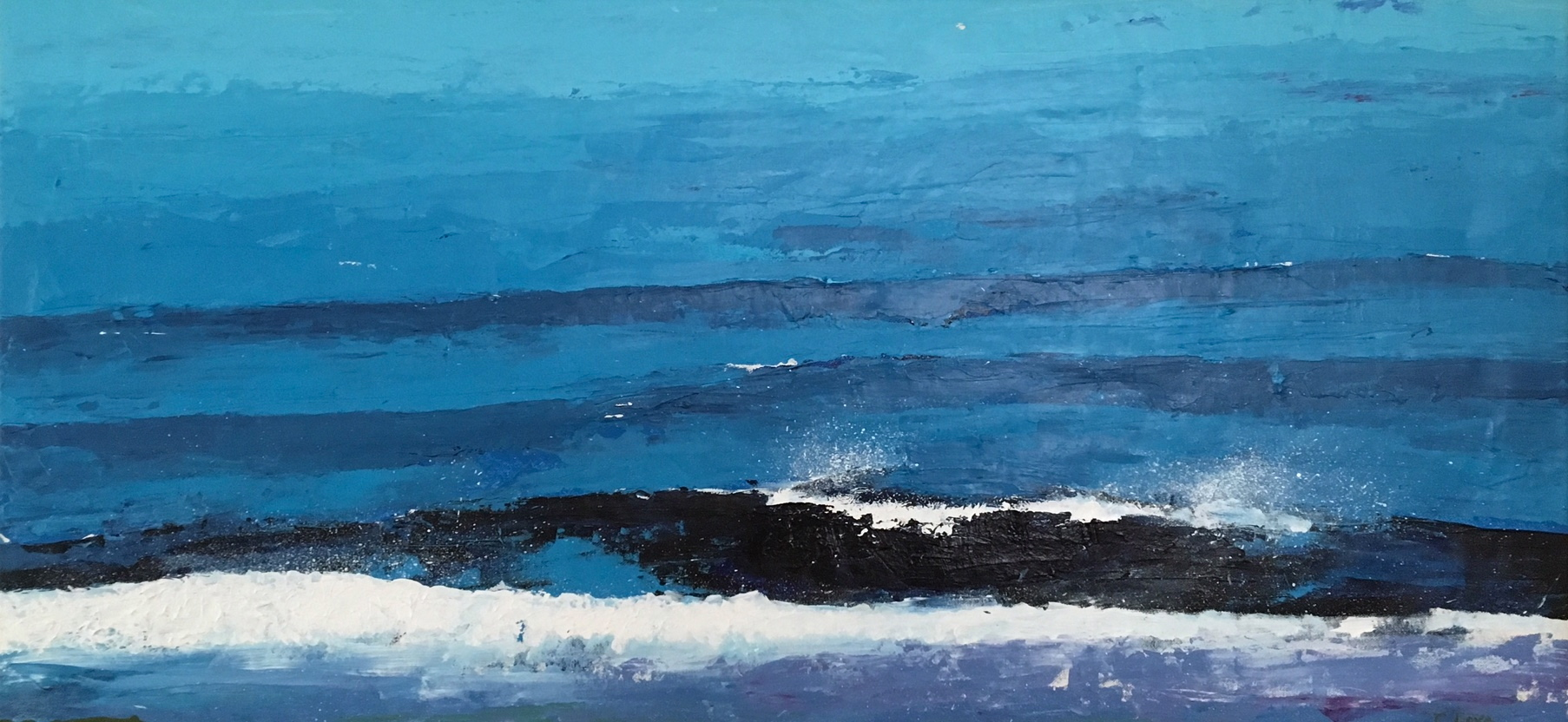 """Coming in,Rincon   Acrylic on Canvas 48"""" x 18"""""""