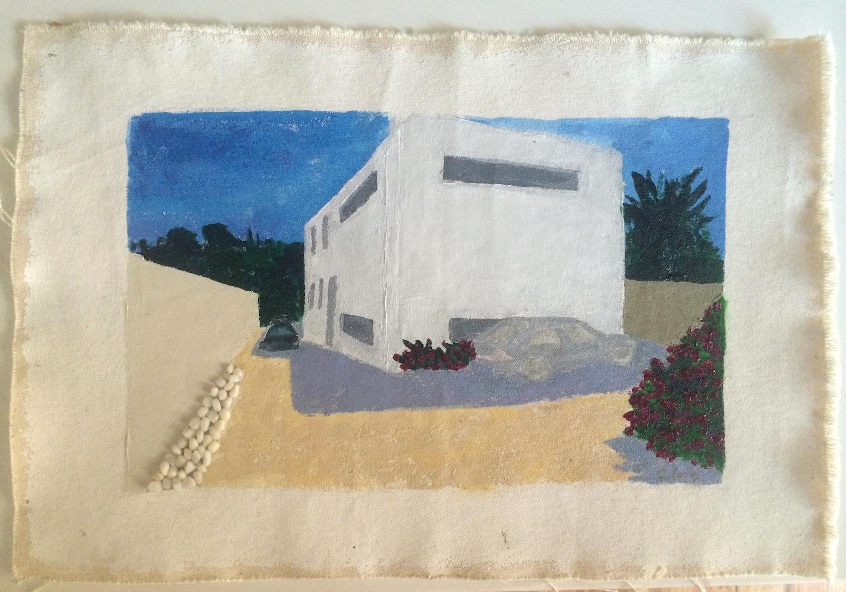 "Gilles Marseille   Acrylic & Mixed Media on Canvas  20"" x 14"""