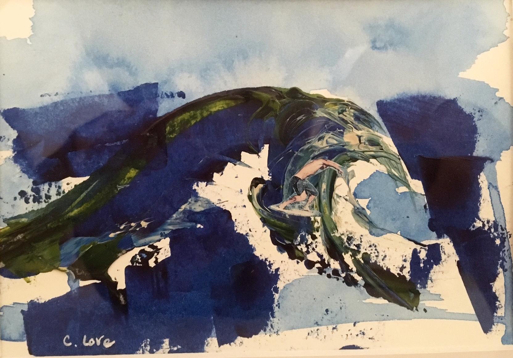 "Paulie   Acrylic & Mixed Media on Canvas 20"" x 16"""