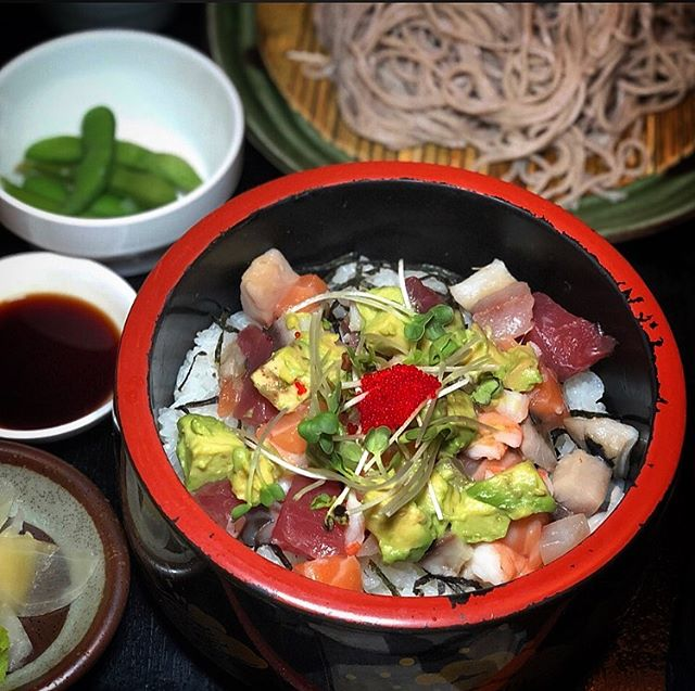 Come and try our amazing $10 lunch special, Bara Chirashi set. Comes with your choice of Hot or Cold Soba. Limited to 20 a day. • • • #chefs #chefstalk #michelinguide #michelininspectors #professionalchefs #zagat #foodporn #newyork_ig #japanesetapas #foodpic #foodgasm #chefofinstagram #michelinrestaurant #michelininspectors #michelinguide  #uni #tuna #kampachi #fluke #barachirashi #sobanoodles