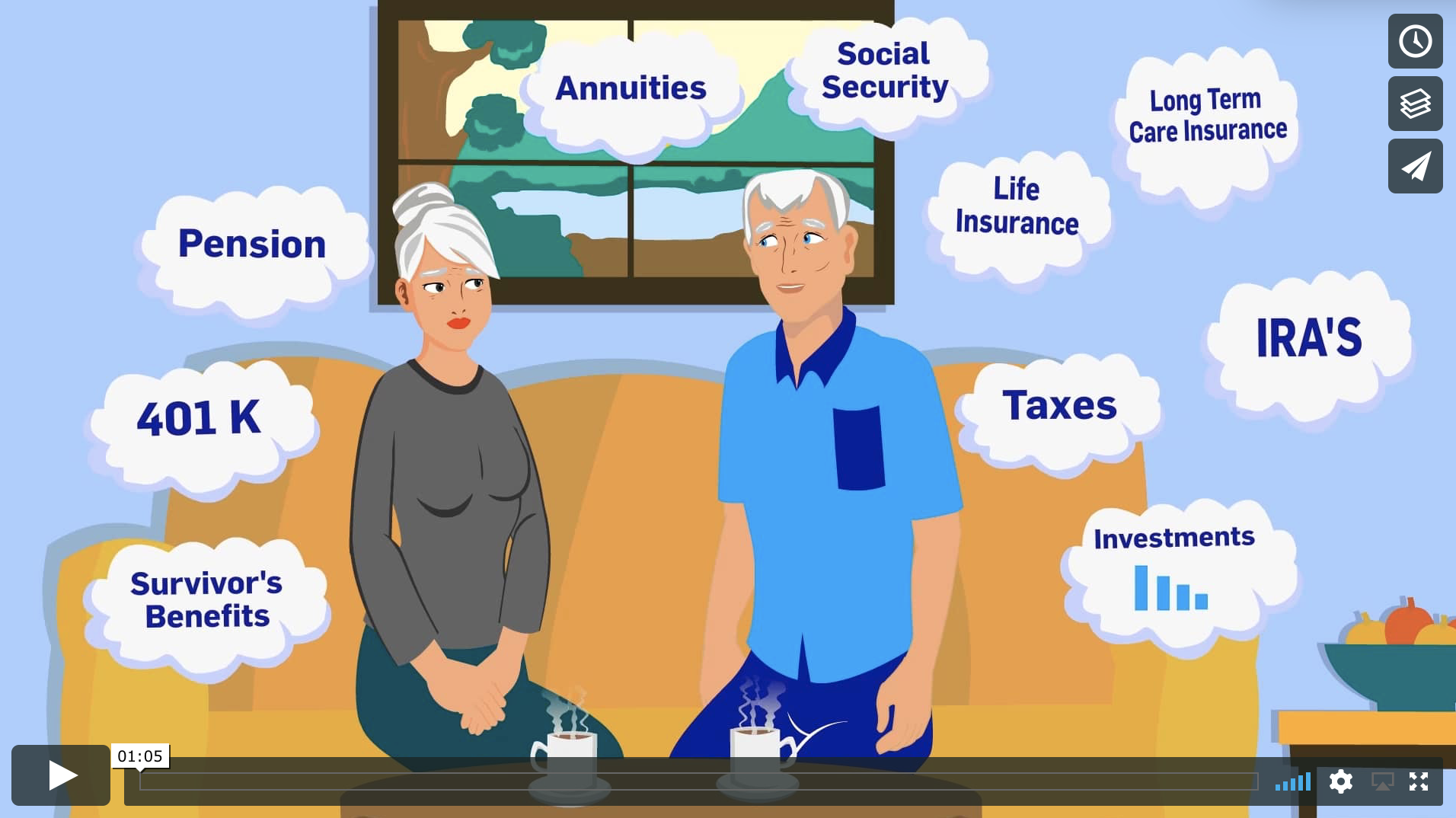 Watch this quick 1-minute video and learn about the integrative planning process that Evan Belaga, our expert certified financial & retirement planner covers.