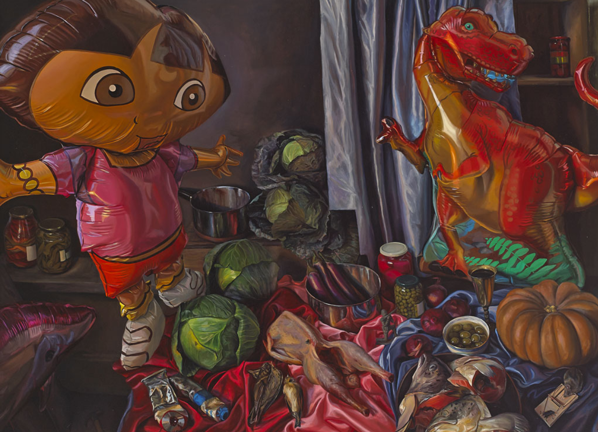 Geraldine O'Neill, Mouse Trap, 2010, oil on canvas, 130 x 180 com; courtesy of the artist and Kevin Kavanagh Gallery