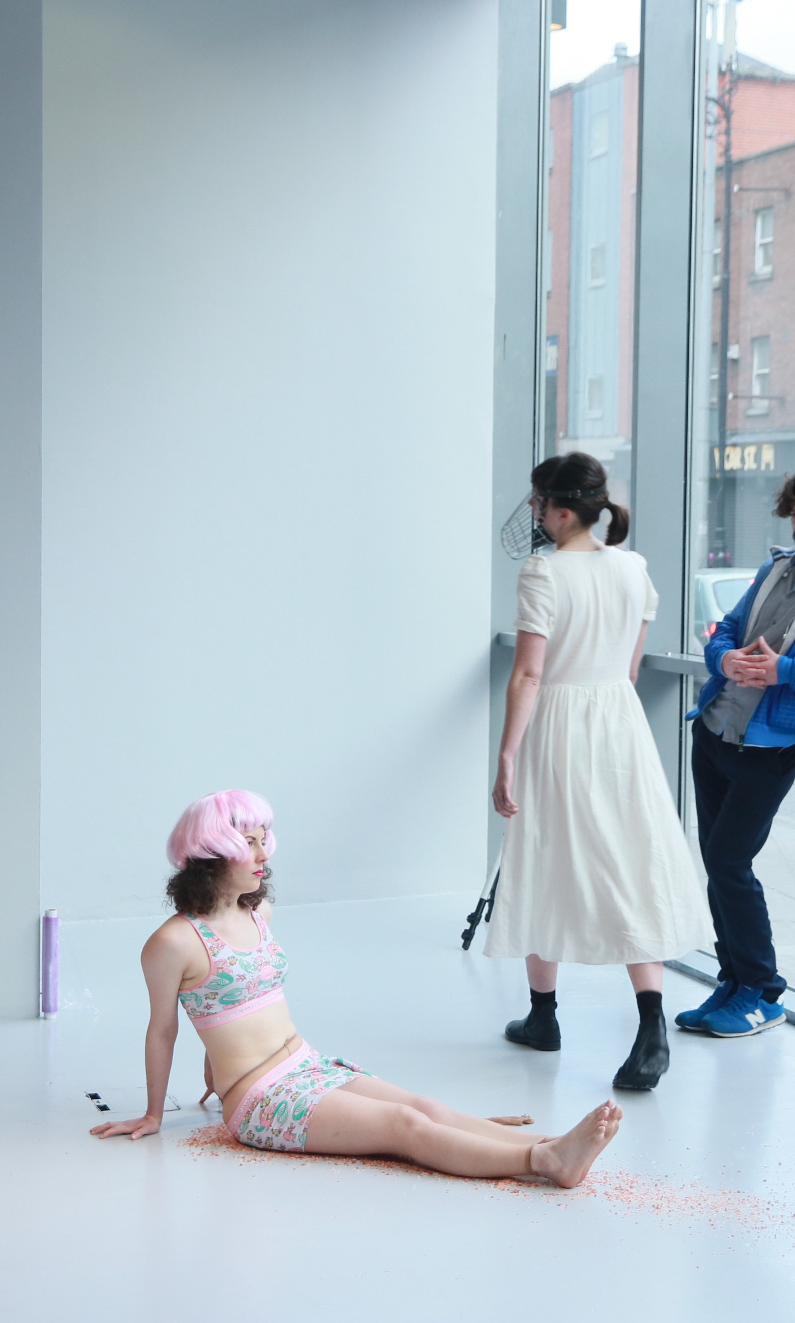 Ciara McKeon (left),  Léann Herlihy  (right),   Anticipation: Actualisation     (2018) ,   NCAD Gallery