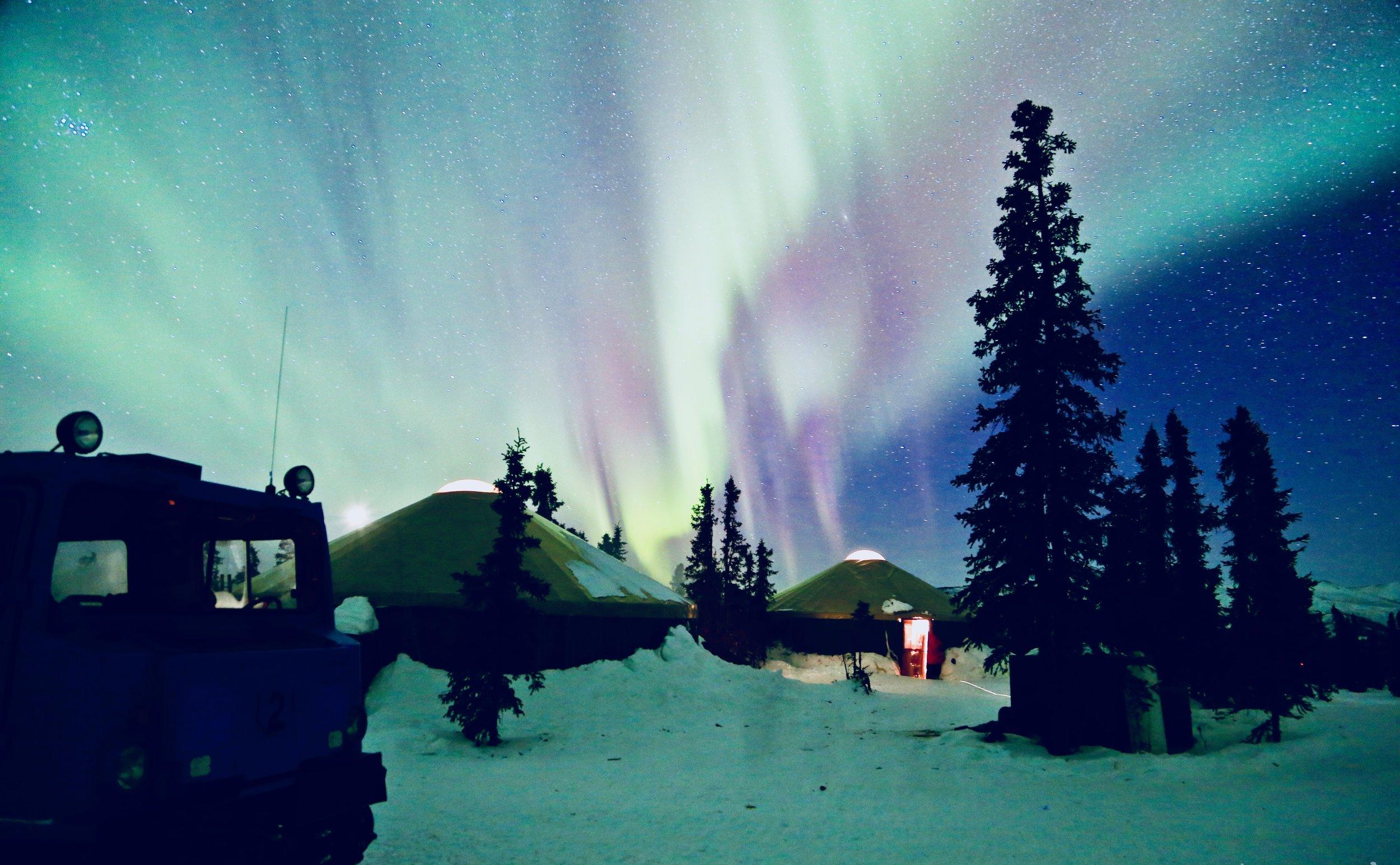 观赏北极光 - - 坐军用坦克车到查理穹顶- 360度无敌视野- 在温暖的蒙古包内享用免费热饮和小点*6岁以上方可成行约5小时- $75/ 每人
