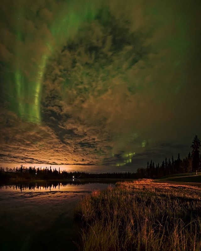 The ballet of Lights 💚⠀ ⠀ Reposting @cnlastro:⠀ #autumnvibes🍁 #astrophotography #chenahotsprings #explorefairbanks #Fairbanks #alaska #AK #chsrphoto #longexposureshot #Northernlights #auroraborealis #SonyA7s #sonyalpha #bealpha #sigmaphoto
